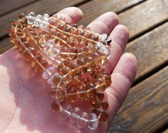 RARE high quality honey colored Citrine necklace 8-10 mm