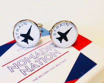 Callsign Cuff Links- Aviation Cuff Links- Jet Cufflinks- Pilot Gift- Military Aviation Gift- Helicopter- Hawkeye- Groomsmen
