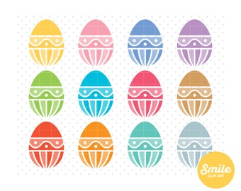 Decorated Easter Eggs Clipart for Commercial Use - C0128