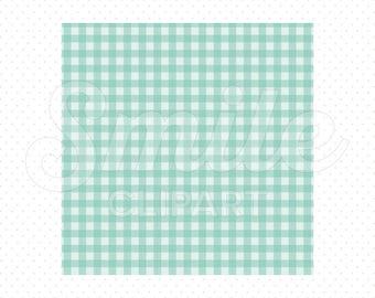 AQUA SHEPHERD'S CHECK Digital Paper for Commercial Use | 0051