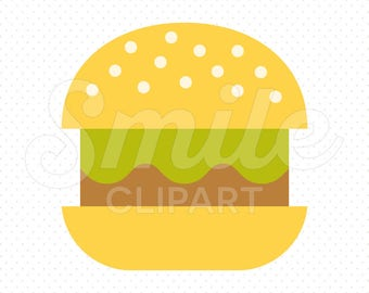 HAMBURGER Clipart Illustration for Commercial Use | 0085