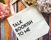 Bookish Tote Bag- Book Sw...