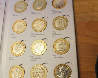 UK collection of 2 pound coins