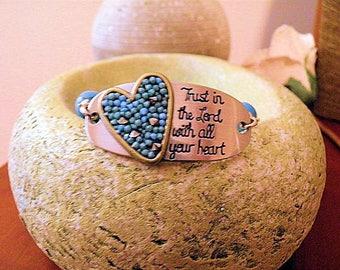 Trust In Lord Turquoise Bracelet
