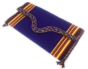 Goza Handmade Shoulder Purse Bag for Women with Speckled Straps, Embroidered, Nickel Snap Closures