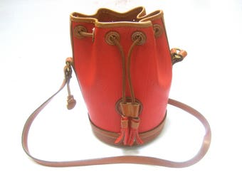 DOONEY & BOURKE Rare Red Leather Saddle Shoulder Bag