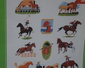 "the ""horses"" cross stitch Embroidery pattern"