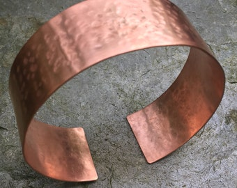 Copper Bangle Hammered Textured