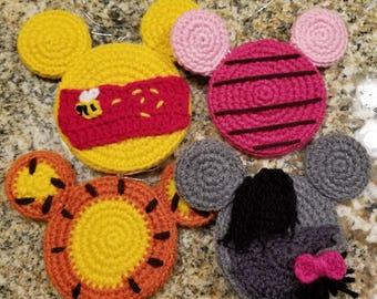 Crochet Winnie the Pooh Christmas Ornaments