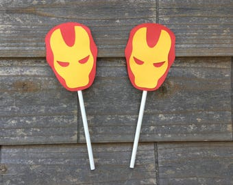 Super Hero Iron Man Cupcake Toppers