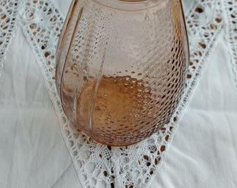 Art deco vase - pink glass vase - hyacinth vase - vintage - soliflore - french -