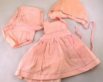 Doll Dress Pinafore Vintage Handmade Doll Clothes