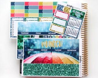 March Monthly Kit (stickers for Erin Condren Life Planner)