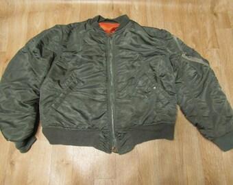 Vintage Vietnam Flyers jacket Bomber  1970s Large