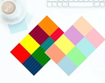 56 Multi-Coloured Bright OR Pastel Blank Header Stickers for Erin Condren LifePlanner