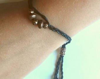 Black cotton cord bracelet