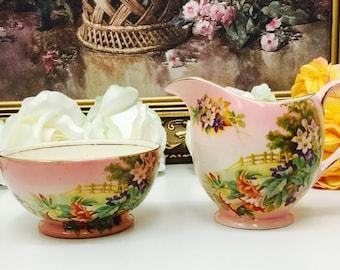 Royal Winton Grimwades cream and sugar.