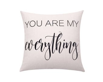 Valentines throw pillow covers Quote decorative pillow case Pillow with Words cushion cover Letters pillow Valentines gift Home decor 18x18