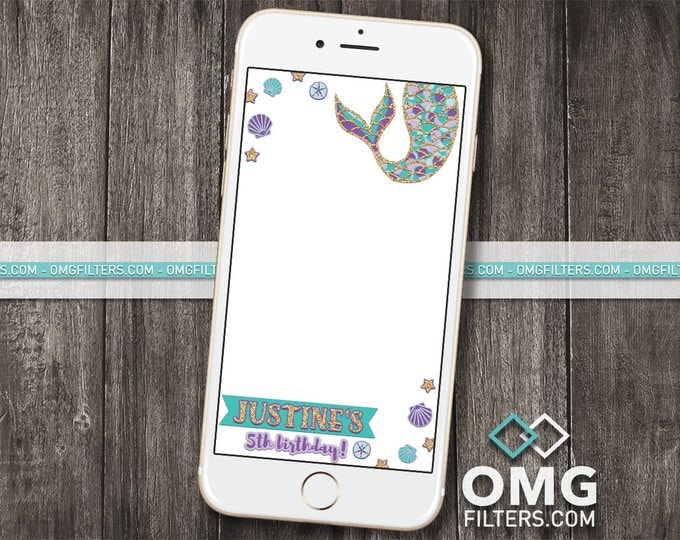 Mermaid Party 2 - Custom Snapchat Filter - Any Age!