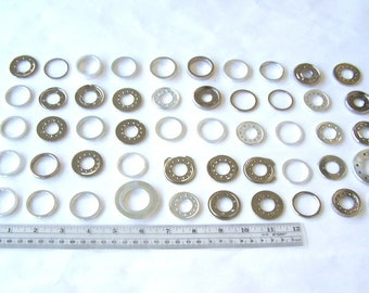 Aluminum and Stainless Steel Rings and Washers from Hard Drives 50 Pieces, HD Spindle Rings, Computer Parts, Hard Drive Platter Spacers