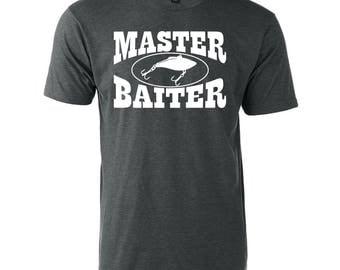 Master Baiter Graphic T-Shirt Funny Fishing Boating