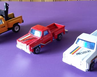 Vintage Toy Pickups and Tow Truck