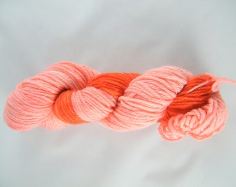 100% Superwash Merino Wool Yarn - Pink and Red - Worsted Weight - 100g - 189 yards - Tide - Handdyed - Handpainted - Made in Canada #476