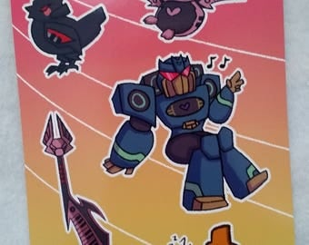 Soundwave & Cassettes Sticker Sheet