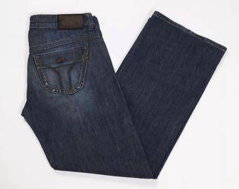 Miss sixty jeans W30 Tg wish (IT) Blue 44 wide leg T2631 leg used loose