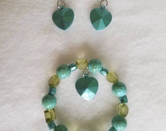 Handmade Earrings & Bracelet Set