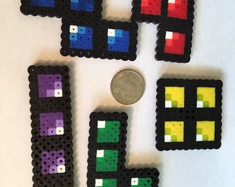 Tetris Perler Bead Magnets