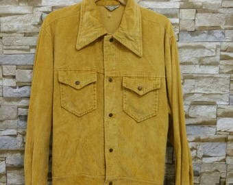 Vintage 70's 60's Pacific Trail Sportswear Jacket Corduroy Emblem 0f Quality