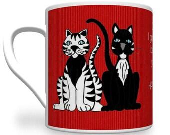 Personalised Cat Lover's Mug. Cat Lady Mug. Cat Mug. Cat Lover.