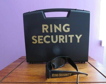 Ring Security,  Ring Security Box, Wedding  black box, Ringbearer Ring Agent, Ring bearer, Ring Security Briefcase, Ring Security Case