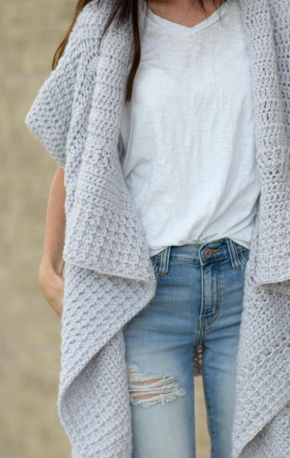 Cascading Kimono Crochet Cardigan Easy Crochet Cardigan