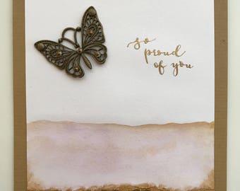 Handmade 'Proud of You' Card