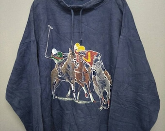 Vintage wek the world polo picture pullover sweatshirt