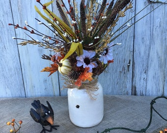 An Autumn Floral Arrangement, Fall Centerpiece, Pumpkin Arrangement, Thanksgiving Decor, Wedding Centerpiece's, Farmhouse Decor