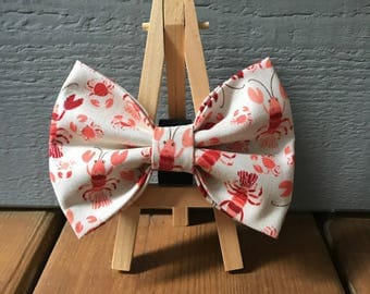 Lobster and Crab Dog Bow Tie