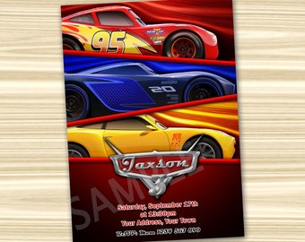 Cars 3 Invitation. Cars Party Invitation. Diy Cars Birthday Party. Cars Printable. Lightning McQueen Invitation. DIGITAL FILE.