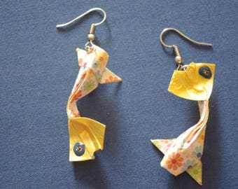"""""""Carp"""" - (CAR_007) silver hook earrings"""