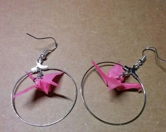 """""""Birds in flight"""" earrings in hoop (G_015)"""
