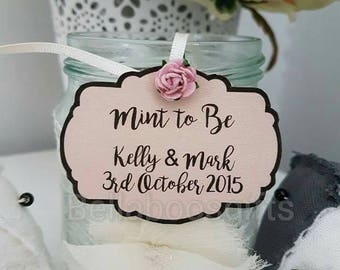 Mint to be tags, wedding favour tags, favour tags, mint favours tags