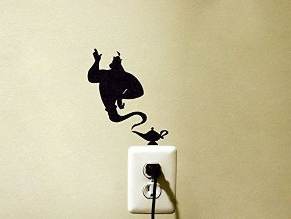 Genie Aladdin Lamp Light Switch Decal by FineDecalShop