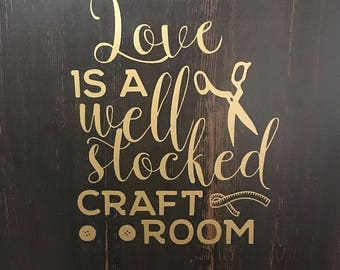 craft room decal.