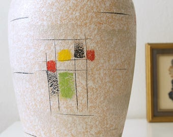 Large Mid Century vase, fifties, made by Scheurich, West Germany