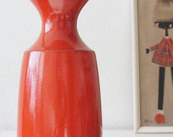 Large red Steuler vase, West Germany.  Design by Cari Zalloni, Mid Century