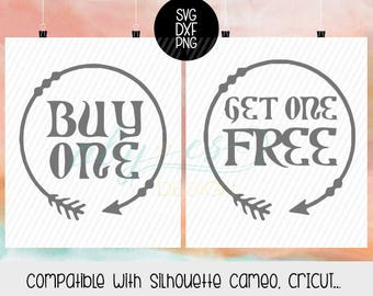 Buy One Get One SVG, Boho, Arrow, Dxf, Png, Silhouette, Cameo,