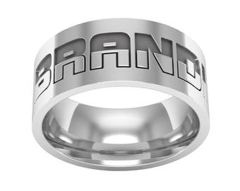 Personalized Name Band Ring in Sterling Silver Metal, Custom Wedding Band Ring, Engagement Ring, Personalized Name Ring, Silver Wedding Ring