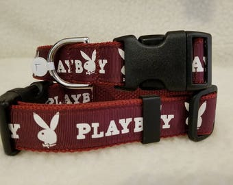 Bunny Handmade Dog Collar 1 Inch Wide